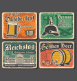 oktoberfest beer and reichstag german travel vector image
