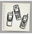 Old mobile phone set vector image