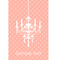 pink spotted background with chandelier vector image vector image