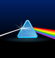rainbow light separation vector image vector image