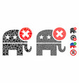 reject republican mosaic icon humpy parts vector image vector image