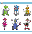 robot characters cartoon set vector image vector image
