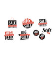 sale logo or label shopping closeout discount vector image vector image