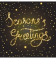 Season s greetings lettering vector image vector image