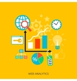 SEO optimization icons vector image vector image