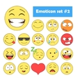 set emoticons vector image vector image