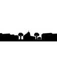 silhouette of the church in the town vector image vector image