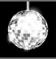 silver mirror disco ball isolated vector image