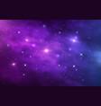 space galaxy nebula stardust and shining stars vector image
