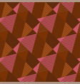 strict geometry textured triangle seamless pattern vector image