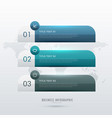 three steps infographic template for your vector image vector image