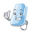 thumbs up stapplers in the a character box vector image