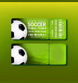 ticket for final of premier league soccer vector image vector image