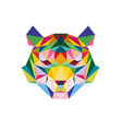 tiger face with polygonal geometric style vector image