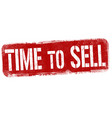time to sell sign or stamp vector image