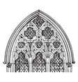 tracery gothic window vintage engraving vector image vector image