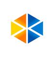 triangle shape technology logo vector image vector image