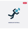 two color american football player catching the vector image vector image