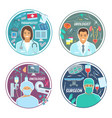 urologist oncologist surgeon medical icons vector image