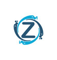 water clean service abbreviation letter z vector image vector image