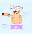 wedding cake concept flat vector image