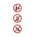 Attention sign set of red attention symbols vector image