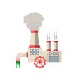 Chemical factory vector image
