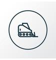 tractor icon line symbol premium quality isolated vector image
