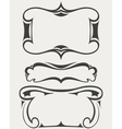 Set of frames in art-deco style vector image