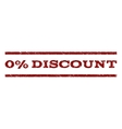 0 Percent Discount Watermark Stamp vector image