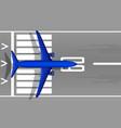 a modern jet passenger blue plane on runway vector image vector image