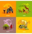 Africa Concept Icons Set vector image