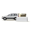 Auto blank vector image vector image