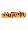 Autumn hand written greeting card vector image