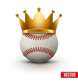Baseball ball with royal crown vector image vector image