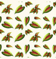 beautiful leaf seamless pattern vector image vector image