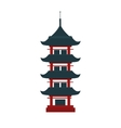 Beautiful travel landmarks chinese temple vector image vector image