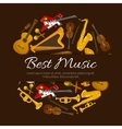 Best music emblem label poster cover vector image vector image