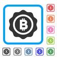bitcoin seal framed icon vector image vector image