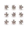 brown puzzle pieces vector image vector image