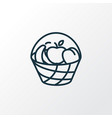bucket of fruit icon line symbol premium quality vector image