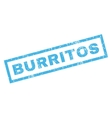 Burritos Rubber Stamp vector image vector image