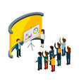 business training isometric business coaching vector image vector image