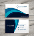 business with blue wave style template vector image vector image