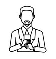 businessman with smartphone vector image
