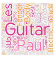 Buyers Guide To Electric Guitars text background vector image vector image