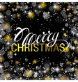 Christmas shining on black background with shiny vector image