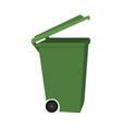 colorful cartoon open dumpster side view vector image