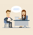 concept of job interview women in flat vector image