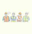 construction engineer work thoughts and ideas vector image